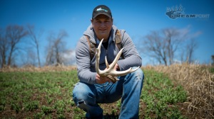 "JD with a massive shed from ""Stud"" The shed measured 75 2/8"""