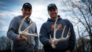 Justin and JD with the two best sheds of the day.